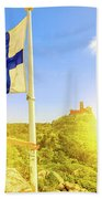 Woman Tourist In Sintra Beach Towel