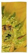 Working Bee Beach Towel by Allen Sheffield