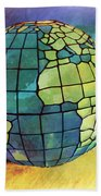 World Displayed Beach Towel