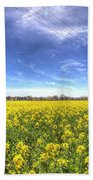 Yellow Fields Of Summer Beach Towel