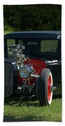 1930 Ford Coupe Hot Rod Beach Towel