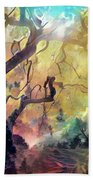 10 Abstract Japanese Maple Tree Beach Towel