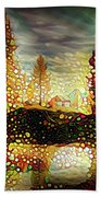 Autumn Landscape Beach Towel