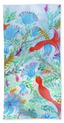 Birds Symphony Beach Towel