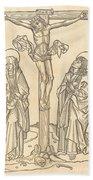 Christ On The Cross Beach Towel