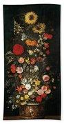 Flower Vase Beach Towel