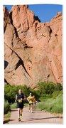 Garden Of The Gods Ten Mile Run In Colorado Springs Beach Towel