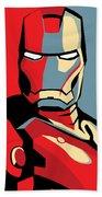 Iron Man Beach Towel by Caio Caldas