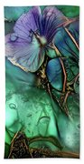 Jeweled Water Lilies Beach Sheet