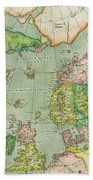 Old Map Beach Towel