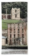 Port Arthur Building In Tasmania, Australia. Beach Towel