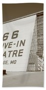 Route 66 - Drive-in Theatre Beach Towel by Frank Romeo