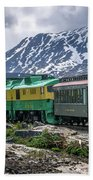 Scenic Train From Skagway To White Pass Alaska Beach Towel