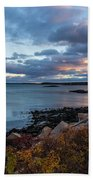 Sunset Down East Maine Beach Towel