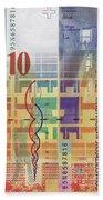 10 Swiss Franc Bill Beach Towel