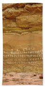 100 Hands Pictograph Panel Beach Sheet