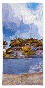 108 Stupas Beach Towel