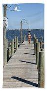 Indian River Lagoon At Eau Gallie In Florida Usa Beach Towel
