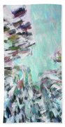 Abstract Digital Oil Painting Full Of Texture And Bright Color Beach Towel