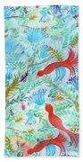 Birds Symphony Beach Towel