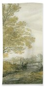 Landscape With Trees Beach Towel
