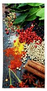 Spices And Herbs Beach Towel