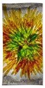 11262 Flower Abstract Series 02 #16a Beach Towel