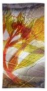 11315 Flower Abstract Series 03 #13 Beach Towel