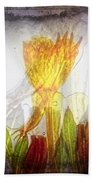 11322 Flower Abstract Series 03 #20 Beach Towel