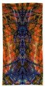 11450 Summer Fire Mask 32 Version 2 - God Of Fire Beach Towel