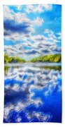 Nature Art Landscape Canvas Art Paintings Oil Beach Towel