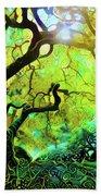 12 Abstract Japanese Maple Tree Beach Towel