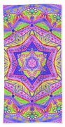 Birth Mandala- Blessing Symbols Beach Towel