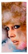 Brigitte Bardot Beach Towel
