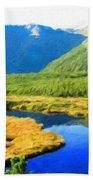 Nature Landscape Oil Painting Beach Towel