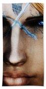 120941 The Elder Scrolls V Skyrim Wizard Blue Eyes Beach Towel