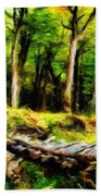 Landscape On Nature Beach Towel