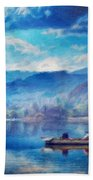Oil Painting Landscape Pictures Nature Beach Towel