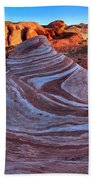Fire Wave Panorama Beach Towel