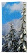 Landscape Paintings Canvas Prints Nature Art  Beach Towel