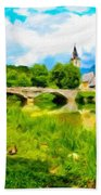 Nature Landscape Oil Painting For Sale Beach Towel