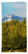 Landscape Paintings Canvas Prints Nature Art  Beach Towel