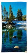 Nature Oil Canvas Landscape Beach Towel