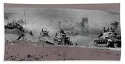 12th Panzer Division On The Move To Stalingrad August 1942 Color Added 2016 Beach Towel