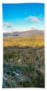 Aerial View On Mountains And Landscape Covered In Snow Beach Towel