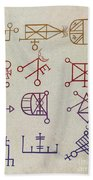 Cabbalistic Signs And Sigils, 18th Beach Towel