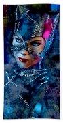 Catwoman Beach Towel