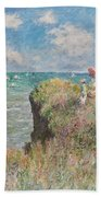 Cliff Walk At Pourville Beach Towel