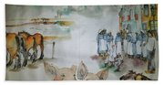Land Of Clogs And Windmill Album Beach Towel