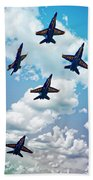 Navy Blue Angels Beach Towel